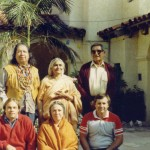 Back Row: (middle) Gayatri Devi, (right) Gerald Red Elki  Front Row: (middle) Reverand Mother Sudha Puri, (right) Roger La Borde