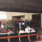 Flags of the world in the Rio Conference Hall, 1992